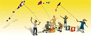 Woodland Scenics Windy Day Play (6 Figures Flying Kites) HO Scale
