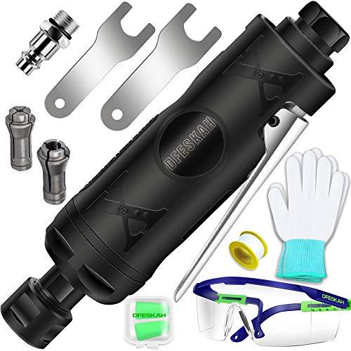 DFESKAH Druckluft Stabschleifer, gerader pneumatischer Schleifer, Geradschleifer Schleifgerät (150mm, 22000rpm, 6,3Bar)