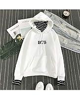 セーター3DプリントUGLY KPOP BTSユニセックスファッションスポーツスウェットシャツ愛自分自身のプルオーバートッププルオーバーソフト快適な長袖男性女性白 (Color : A, Size : XXX-Large)