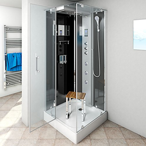 AcquaVapore DTP6038-2303L Dusche Dampfdusche Duschtempel Duschkabine -Th. 100×100, EasyClean Versiegelung der Scheiben:2K Scheiben Versiegelung +99.-EUR - 2