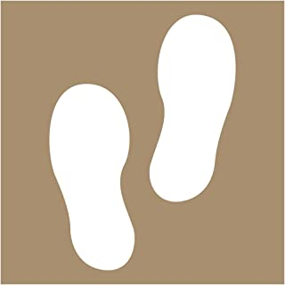[Graphic Only] Footprints 24 in. Plastic Stencil for Wayfinding and Directional, Made in USA by ComplianceSigns