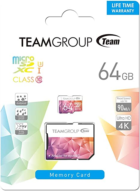 Teamgroup Tciiusxh64gu358 Color Card Ii Uhs I U3 Computers Accessories