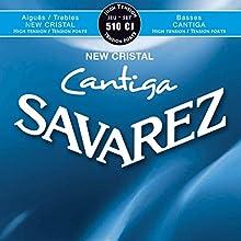 Cuerdas para Guitarra Clásica New Cristal Cantiga Combinación de las cuerdas agudas New Cristal con las graves de la legendaria CANTIGA 510CJ. Tensión alta, azul