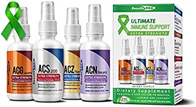 Results RNA Ultimate Immune Support System Extra Strength Kit | Ultimate Support for Detoxification, Immune Support, Antioxidant, Glutathione, Mental Clarity (4 Oz)