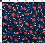 Obst, Sommer, Erdbeeren, Blaubeere, Erdbeere, Obstsalat,