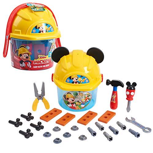 Disney Junior Mickey Mouse Handy Helper Tool Bucket Construction Role Play Set, 25-pieces