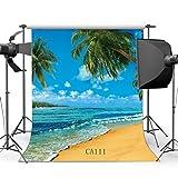 SUNNY Star 5x 7ft/150x 210cm Seaside Playa paisaje fondo para estudio fotográfico fondos personalizados Studio Props vinilo Thin para Studio/partido/decoración CA111