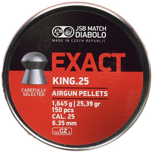 JSB Diabolo Exact King .25 Caliber Air Gun Pellets 150 ct.