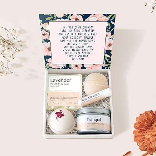 Thinking of You Spa Gift Box Set - Inspirational, Heartfelt Card & Spa Gift Box to Send Love & Thoughts for Condolences, Support, Sympathy, Illness, etc