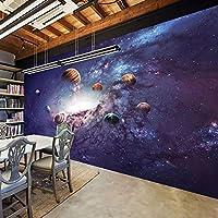 3D壁紙宇宙星空宇宙壁画リビングルーム子供用寝室レストランカフェ背景壁-350x250cm