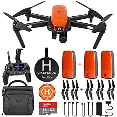 Autel Robotics EVO Drone Camera with Cinematic 4K HD Video at 60FPS ($298 Value Bundle)