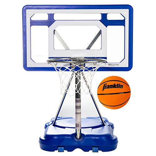 Franklin Sports Pool Basketball Hoop - Waterproof Mini Basketball Hoop for Poolside - Portable 30