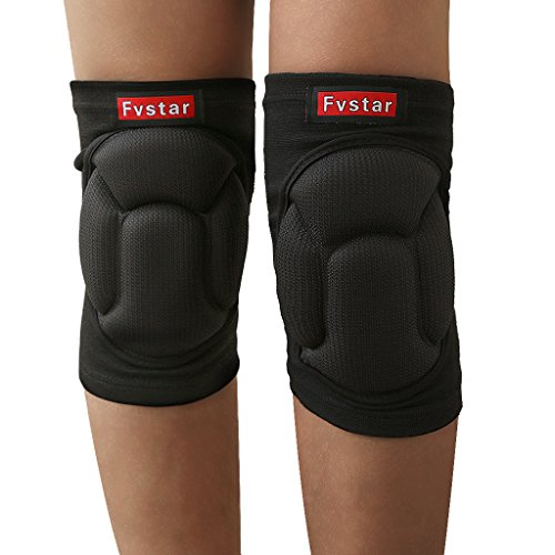 Fvstar Knee Pads Anti-Slip Volleyball Kneed Pads Thick Sponge Thigh Protective Gear Teens Football Knee Sleeve for Cycling Skiing Goalkeeper Soccer