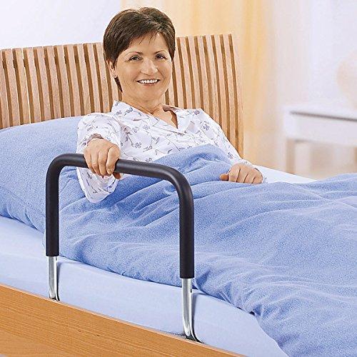Bettgriff, Aufstehhilfe EIN- & Ausstiegshilfe Bettaufrichter Bettaufstehhilfe, Stahl & Schutzgummierung, 90 x 50 x 43 cm