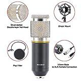 FOKEN Condenser crophone Wired Scissor Arm Stand Metal Shock Mount Pop Filter Sound Recording For Chatting Singing