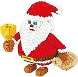 TDYSDYN Navidad Invierno Mini muñeco de Nieve Papá Noel Elk Bloques de construcción Juguetes Regalos para Navidad Regalos para niños-A