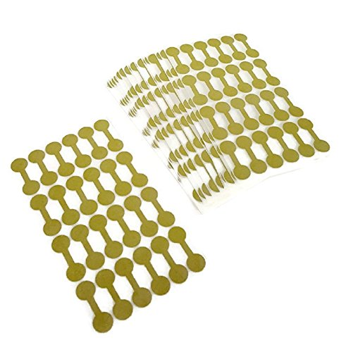 Jewelry Repair, Price and Indentification Tags/Tyvek Self Adhesive Short Dumbbell/Barbell Jewelry Price Tags 1000 Pieces (1000, Gold)