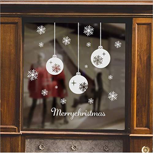 Schneeflockenkette Kugel Charme Einkaufszentrum Fensterglas dekorative Malerei 72 * 88cm