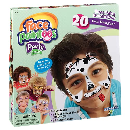 PlayMonster Face Paintoos - Party Pack, (Model: 3695)