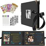 El Álbum de Fotos de Bricolaje con 40 Páginas Negras en Espiral con Ventana Abierta se Puede Usar Como Regalo Para Cumpleaños, Graduación, día de San Valentín, día de la Boda