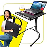 Ultra Portable Folding Laptop Desk with Height and Angle Adjustable, Instant Install Sturdy Table for Tablet TV and Projector Stand, Professional Working from Home Gear, for Camping Car Truck and RV