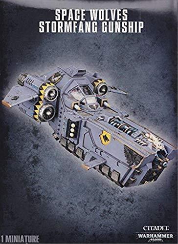 "Games Workshop-Figura de acción Warhammer 40"" Space Wolves Storm Fang Gunship (99120101117)"