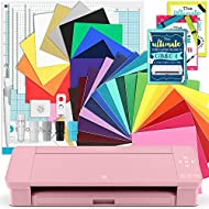 Silhouette Pink Cameo 4 Creative Bundle w/ 26 Oracal 651 Sheets, 12 HTV Sheets, Guides, Tools, and More