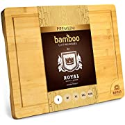 """Bamboo Cutting Board with Juice Groove - Kitchen Chopping Board for Meat (Butcher Block) Cheese and Vegetables 