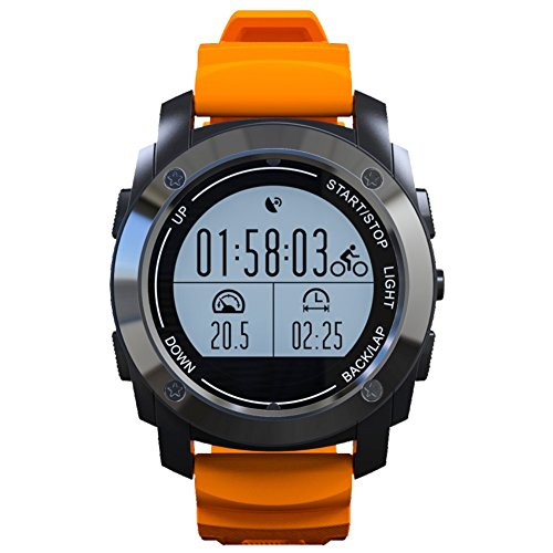 S928 sport GPS smart watches, V-mix GPS Men Women Sports Outdoor Digital Watch with Exercise Records Distance Speed Pace Multifunctional. (orange)