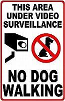 185グレートティンサインアルミニウム犬なしウォーキング屋外&屋内サイン壁の装飾12x8インチ