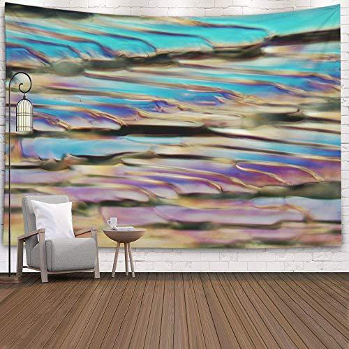 N / A WandteppichHängende Wandteppiche für D & Eacute; COR Wohnzimmer Wohnheim Bier unter einem Mikroskop und in polarisiertem Licht Das Foto zeigt Eiskristalle, rosa grün