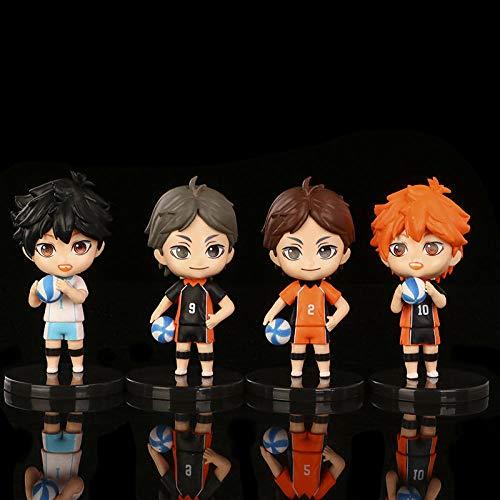 Haikyuu !! Figuras de acción de PVC Conjunto de 4 pcs Modelo de Juguete Figura de Anime Hinata Shoyo sugawara koushi Oikawa Tooru Figuras de acción para la colección de decoración Juguete de Regalo