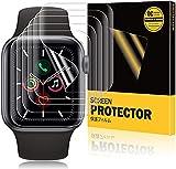 A-VIDET 8 Stück Schutzfolie kompatibel mit Apple Watch Series 6/SE/Series 5/Series 4 44mm & Series 2/Series 3 42mm,Wasserfreie Adsorption Flexible Screen Protector Bildschirmschutzfolie