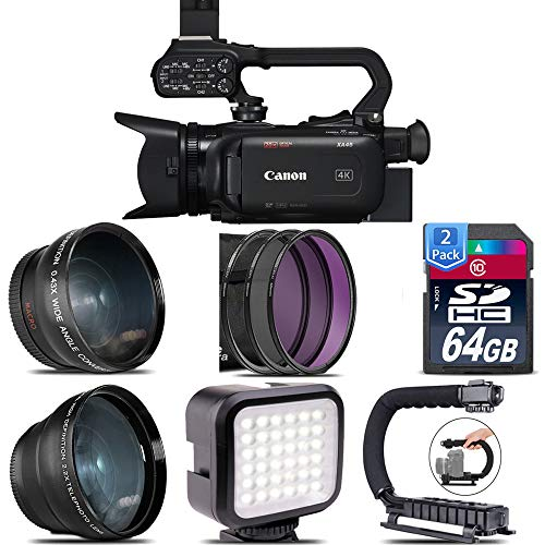 Check Out This Canon XA45 Professional UHD 4K Camcorder with 128GB Starter Bundle USA