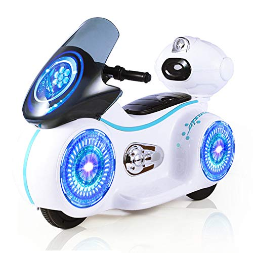 gbdaet Toddler Kids Electric Motorcycle Ride On Toy ,Kids 1.5-3 Years Old,6V Battery Powered Motorcycle Toy with Headlights&Music (White 2)