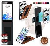 Hülle für Meizu M5c Tasche Cover Case Bumper | Braun