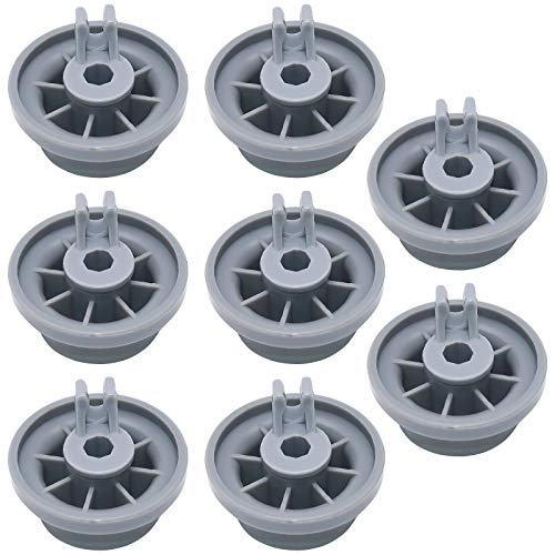 Cenipar 165314 Dishwasher Wheels Lower Upper Rack Roller(8 Pack) Replacement for BOSCH Dishwasher Replaces 00165314,420198,004 20198