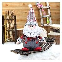 柔らか ぬいぐるみ クリスマスの飾り、クリスマス長い伸縮性の足、サンタぬいぐるみ人形の贈り物、調節可能な雪の帽子、休日の在宅パーティーの装飾 室内装飾 (Color : 7)