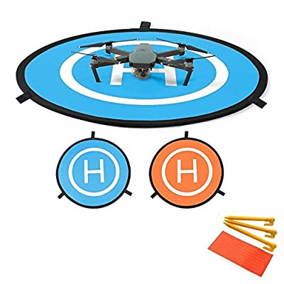 Flycoo 75cm Drone Landing Pad for DJI Mavic Pro / Platinum / Spark /Phantom 3 4 Pro Inspire 75cm 30 inch Parking Apron Fast Fold Taking Off Mat - With bag and Accessories
