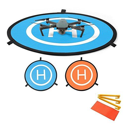 Flycoo Faltbare Landing Pad für DJI Spark / DJI Phantom 2 3 4 Inspire 1 / DJI Mavic Pro - Drone landeplatz Helipad Helikopter Landeplatz Landeplattform Dronepad Landebahn Apron