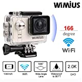 WiMiUS Action Kamera, L3 Action Cam 4K Aktionkameras mit 2.45'' LCD Touch Screen HD...