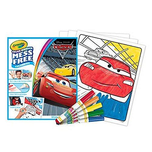 CRAYOLA – 752415 – Mess Free Colouring – Disney Pixar: Cars 3 – 18 Ausmalbilder + 5 Stifte