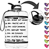 Best Gallon Water Bottles - Half Gallon Straw Motivational Water Bottle with Time Review