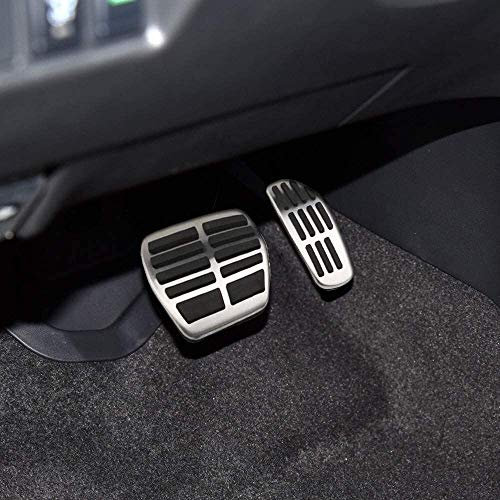 WXJWPZ Auto Edelstahl Fußpedal, Fit for X-Trail Rogue T32 Qashqai Rogue Sport J11 Kicks, Fit for Renault Koleos Kadjar Samsung QM6, Farbe: a3Pcs Sportwagen Gaspedal (Color : A3Pcs)