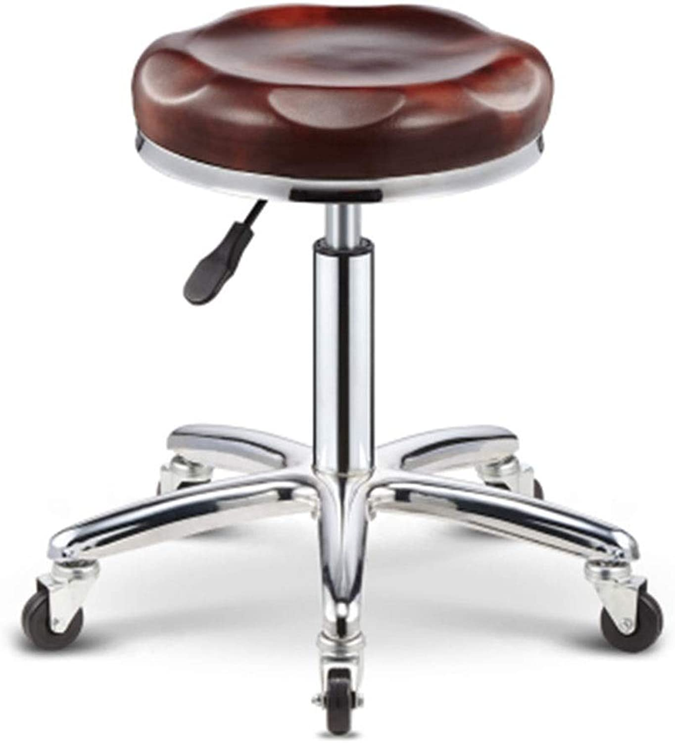 Bar Chair Beauty Stool Barber Chair redate Lifting Stool Work Bench Pulley Round 7 colors 1 Size (color   E)