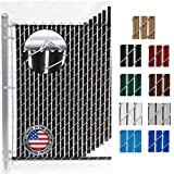 Wave Slat (9 Colors) Single Wall Bottom Locking Privacy Slat for 4', 5', 6', 7' and 8' Chain Link Fence (4 ft, Black)