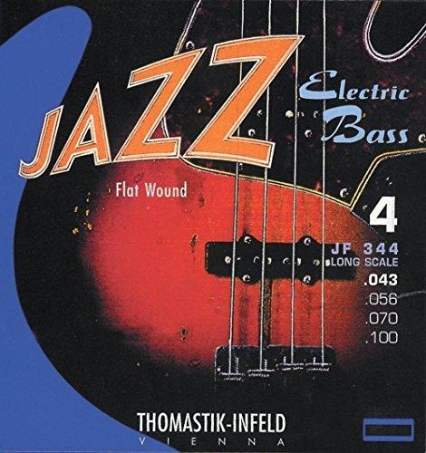 """Thomastik cuerda Re .056 núcleo redondo de acero, entorchado plano de níquel escala corta 32"""" JF32056 para bajo eléctrico Jazz juego JF324"""