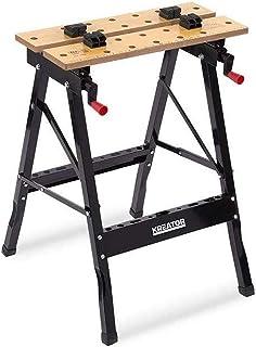 Kreator werkbank werktafel staal inklapbaar - 100 kg draagkracht 560x220x750 mm
