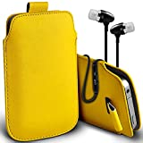 ( Yellow + Ear phone ) Pouch Case for Acer Liquid Jade