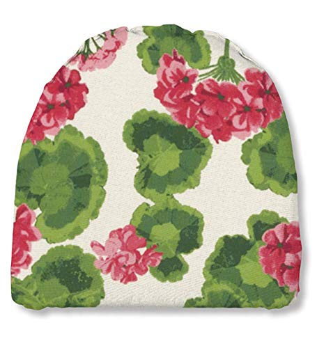 Plow & Hearth 35665-13 Weather Resistant Outdoor Classic Chair Cushion, Geranium